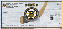 Boston Bruins National Hockey League Personal Checks
