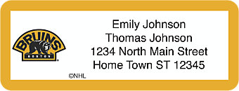 Boston Bruins® NHL® Return Address Label