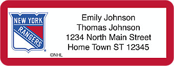 New York Rangers® NHL® Return Address Label