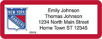 New York Rangers® NHL® Return Address Label
