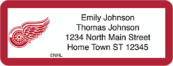 Detroit Red Wings® NHL® Return Address Label