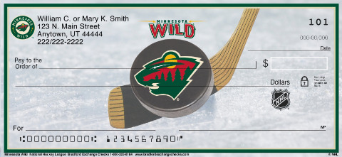 Minnesota Wild National Hockey League Personal Checks