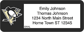 Pittsburgh Penguins® NHL® Return Address Label