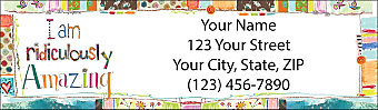 Wonderfully Quirky Return Address Label