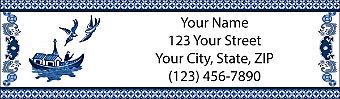 Blue Willow Return Address Label