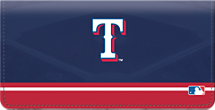 Texas Rangers MLB Baseball Checkbook Cover