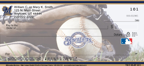 Milwaukee Brewers Major League Baseball Personal Checks