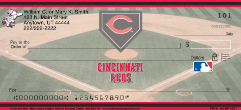 Cincinnati Reds Major League Baseball Personal Checks