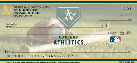 Oakland Athletics Major League Baseball Personal Checks