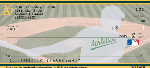 Oakland Athletics Major League Baseball Personal Checks