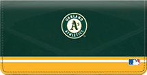 Oakland Athletics MLB Baseball Checkbook Cover