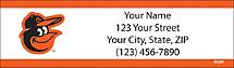 Baltimore Orioles MLB Baseball Return Address Label