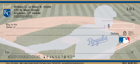 Kansas City Royals Major League Baseball Personal Checks