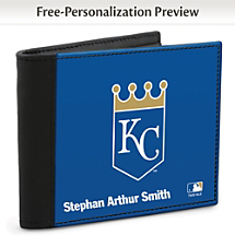 Show Your Royals™ Loyalty and Keep Cards Safe with this Leather-Accented RFID Wallet!