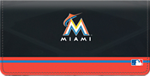 Miami Marlins MLB Baseball Checkbook Cover