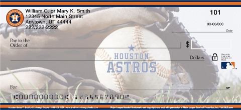 Houston Astros Major League Baseball Personal Checks