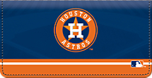 Houston Astros MLB Baseball Checkbook Cover