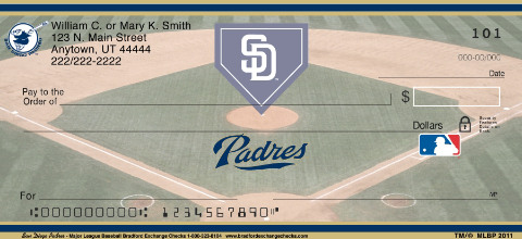 San Diego Padres Major League Baseball Personal Checks
