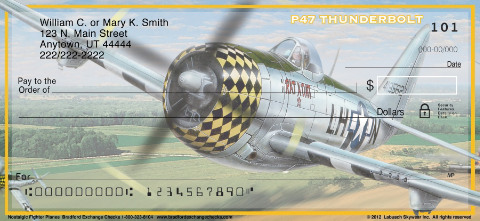 Nostalgic Fighter Planes Personal Checks