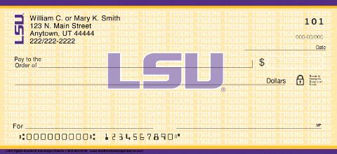 Louisiana State University Tigers Checks