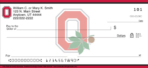 Ohio State University Personal Checks