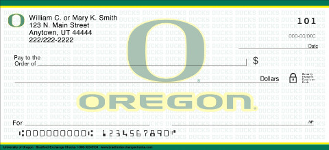 University of Oregon Personal Checks