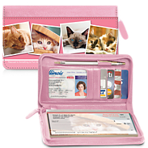 Rescued is Something to Purr About Zippered Checkbook Cover