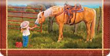 Cowboy Kids Checkbook Cover