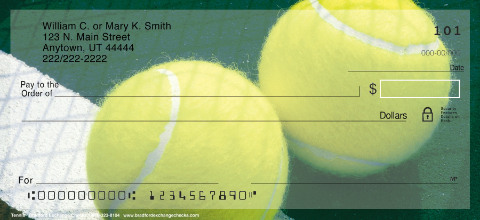 Tennis Personal Checks