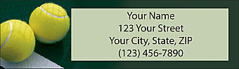 Tennis Return Address Label