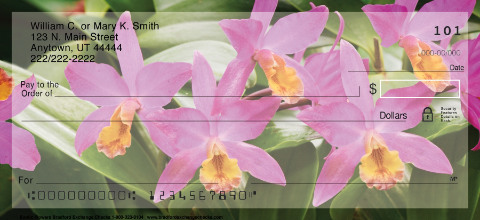 Exotic Flowers Personal Checks
