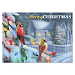 Cardinals in Winter Lights Personalized Holiday Cards