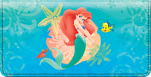 The Little Mermaid Checkbook Cover