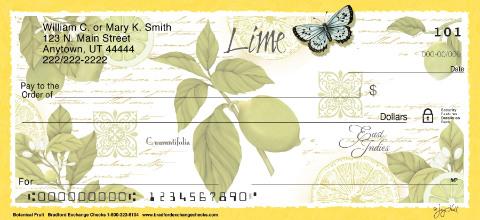 Botanical Fruits Personal Checks