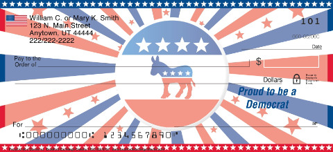 Proud to be a Democrat Personal Checks