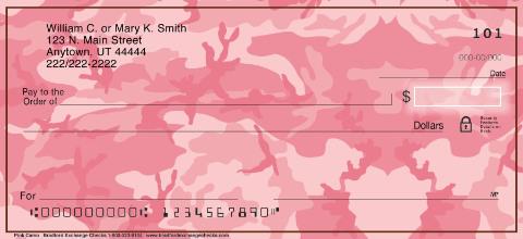 Pink Camo Personal Checks