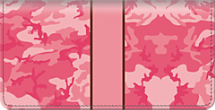 Pink Camo Checkbook Cover