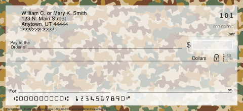 Camouflage Personal Checks