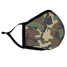 Green Camouflage Fabric Face Mask