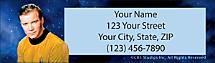 Star Trek Return Address Label