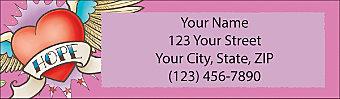 Tattoo Style Return Address Label
