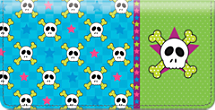 Sweet Skullz Checkbook Cover