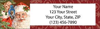 Santa Holiday Return Address Label
