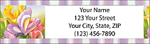 Floral Flutters Return Address Label