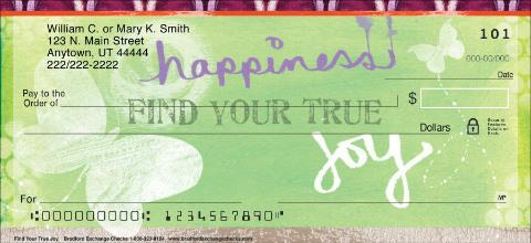 Find Your True Joy Personal Checks