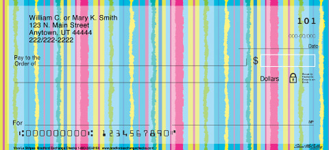 Viva La Stripe Personal Checks