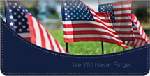 Honoring Our Veterans Checkbook Cover
