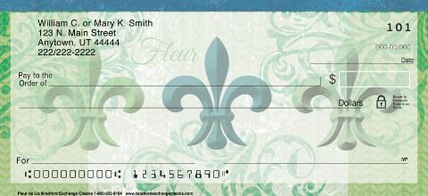 Fleur De Lis Personal Checks