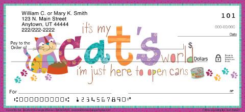 I Love My Cat Personal Checks