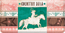 Country Diva Checkbook Cover